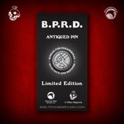 Image of Hellboy/B.P.R.D.: Limited Edition B.P.R.D. Antiqued Logo pin!
