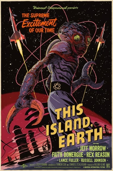 Image of This Island Earth Mondo Screen Print Artist Proof