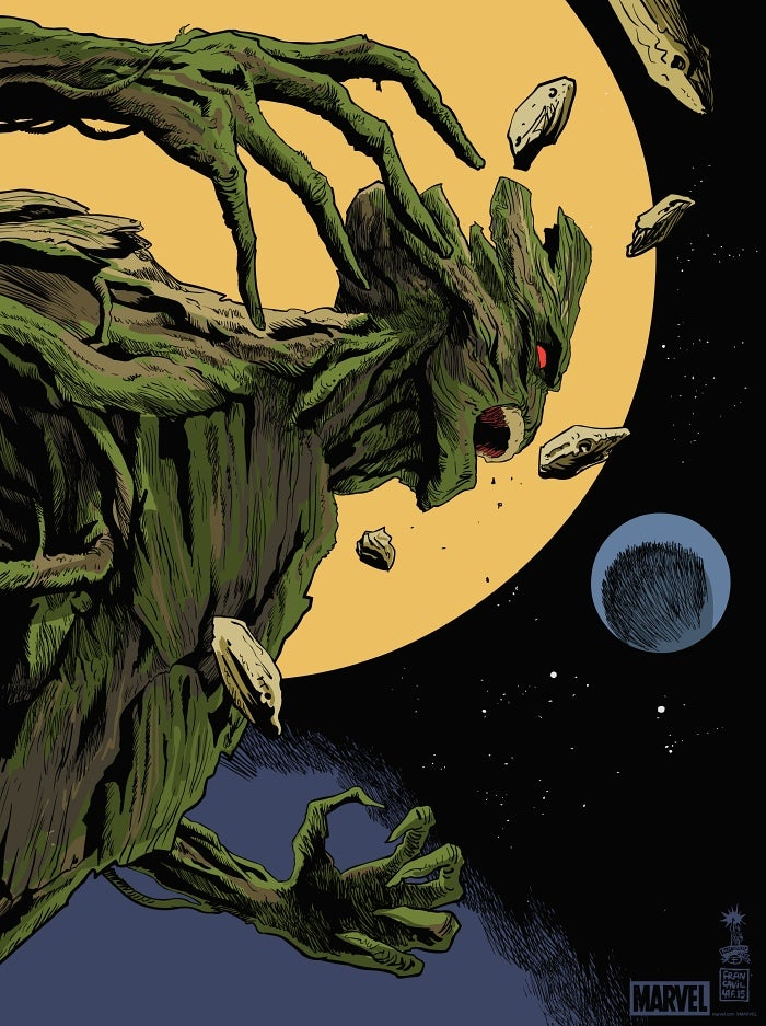 Image of Groot Mondo Screen Print 18x24