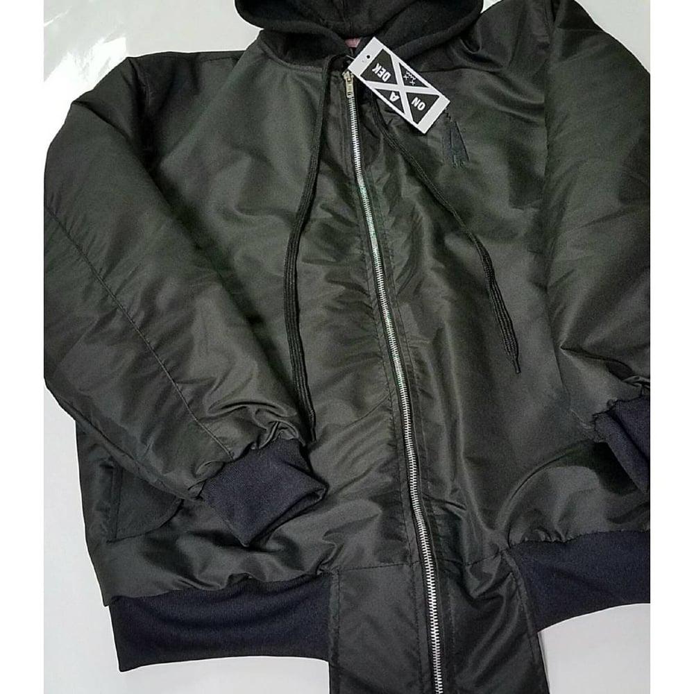 Image of Hooded bomber jacket