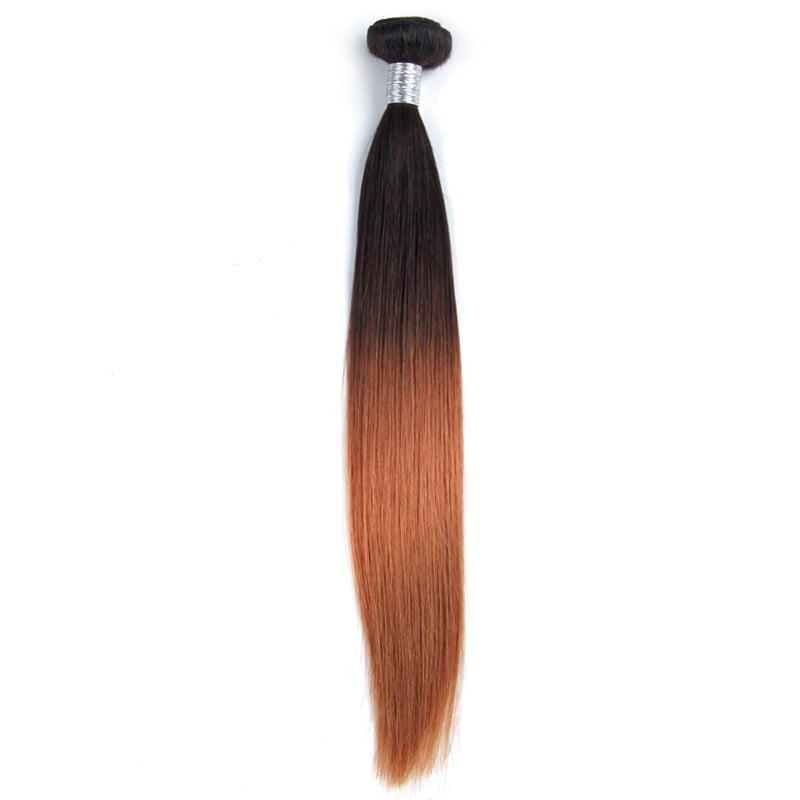 2017 New Style Peruvian Ombre Hair Straight Bundles Dark Brown