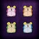 Image 2 of CHEW: Chogs to go! Sushi Ono takeout with 4 classic Chog enamel pins!