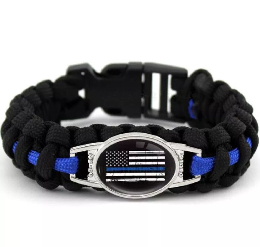 Image of Thin Blue Line Police Paracord Bracelet