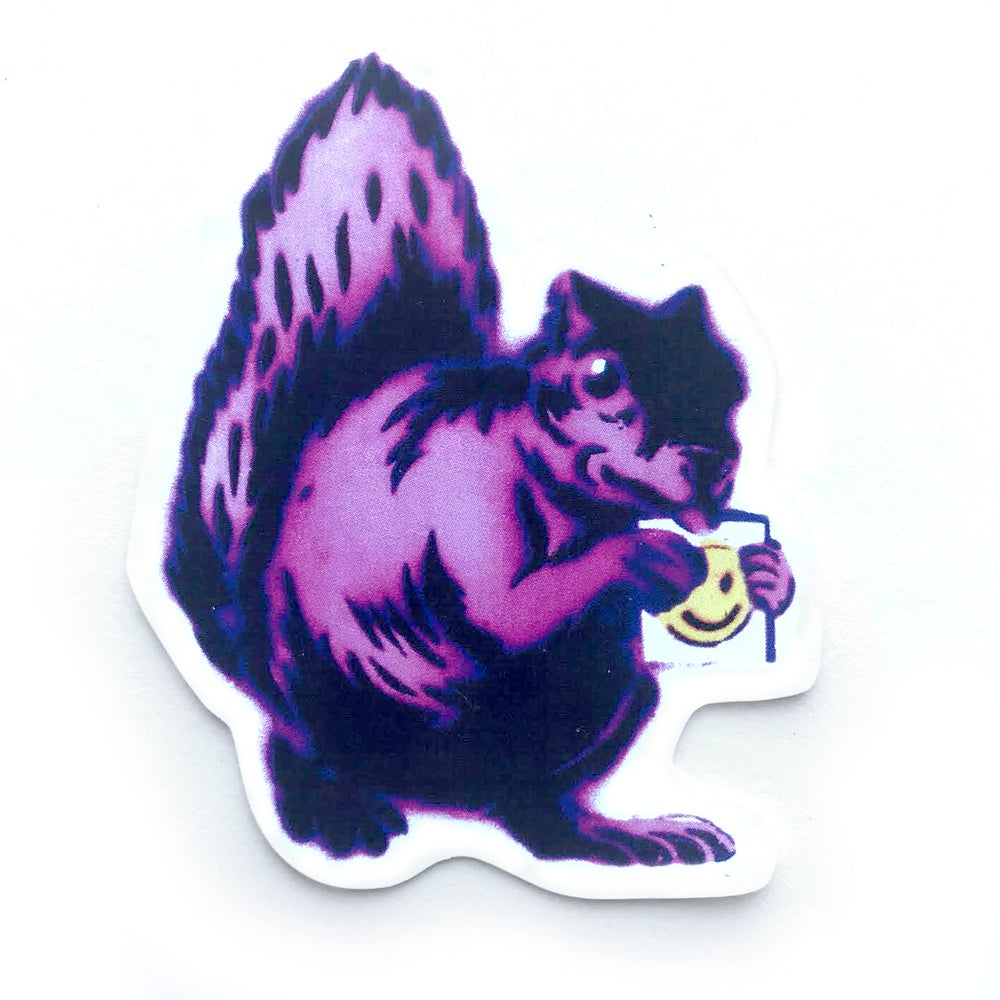 Image of Pink Squirrel Sticker