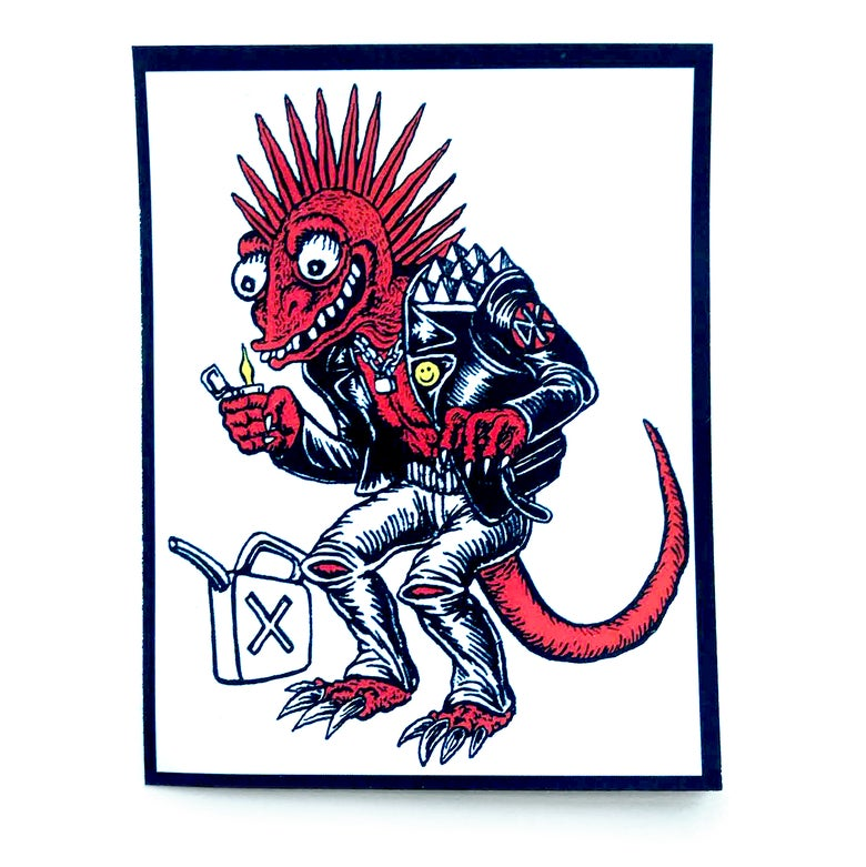 Image of Lizard Punk Sticker