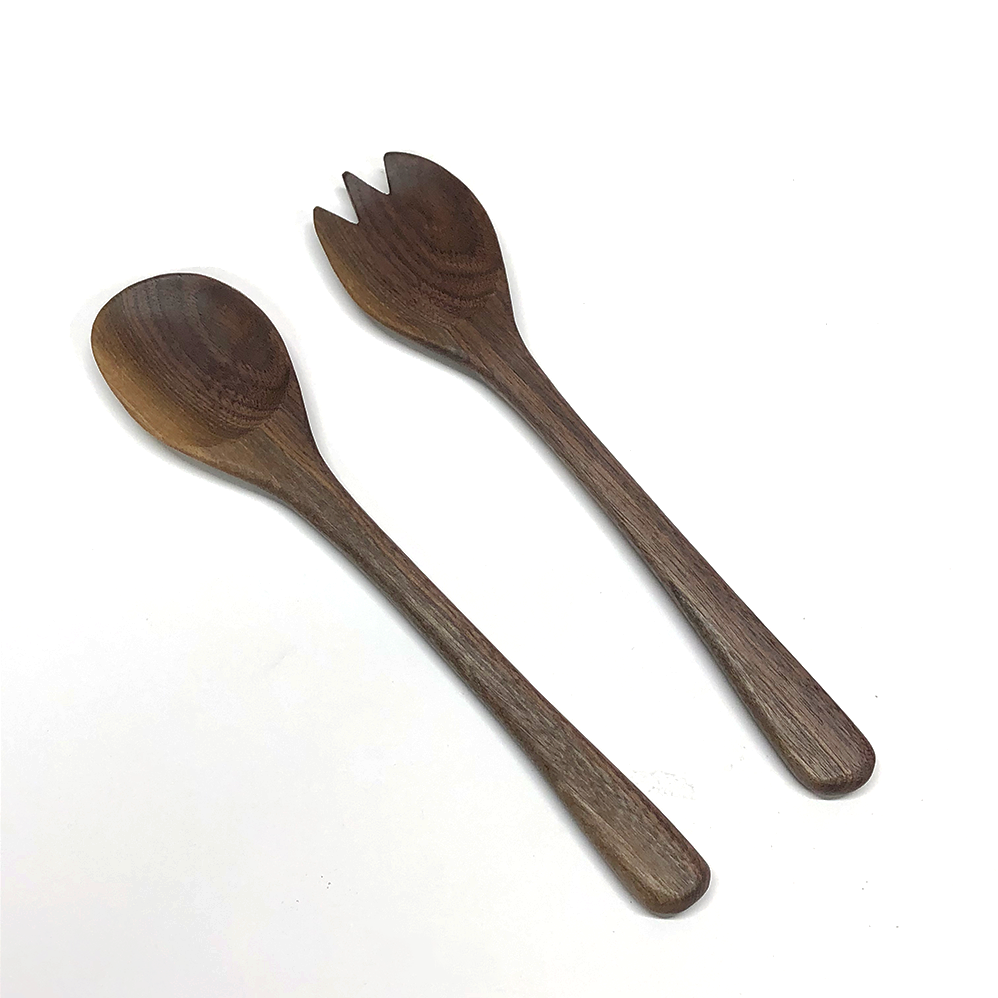 Image of 2 piece salad serving set