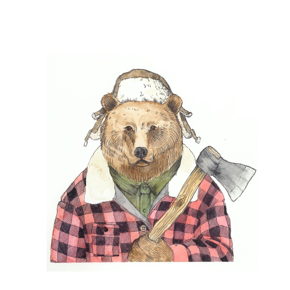 "Image of Lámina ""Sr. Oso"" - Print ""Mr. Bear"""