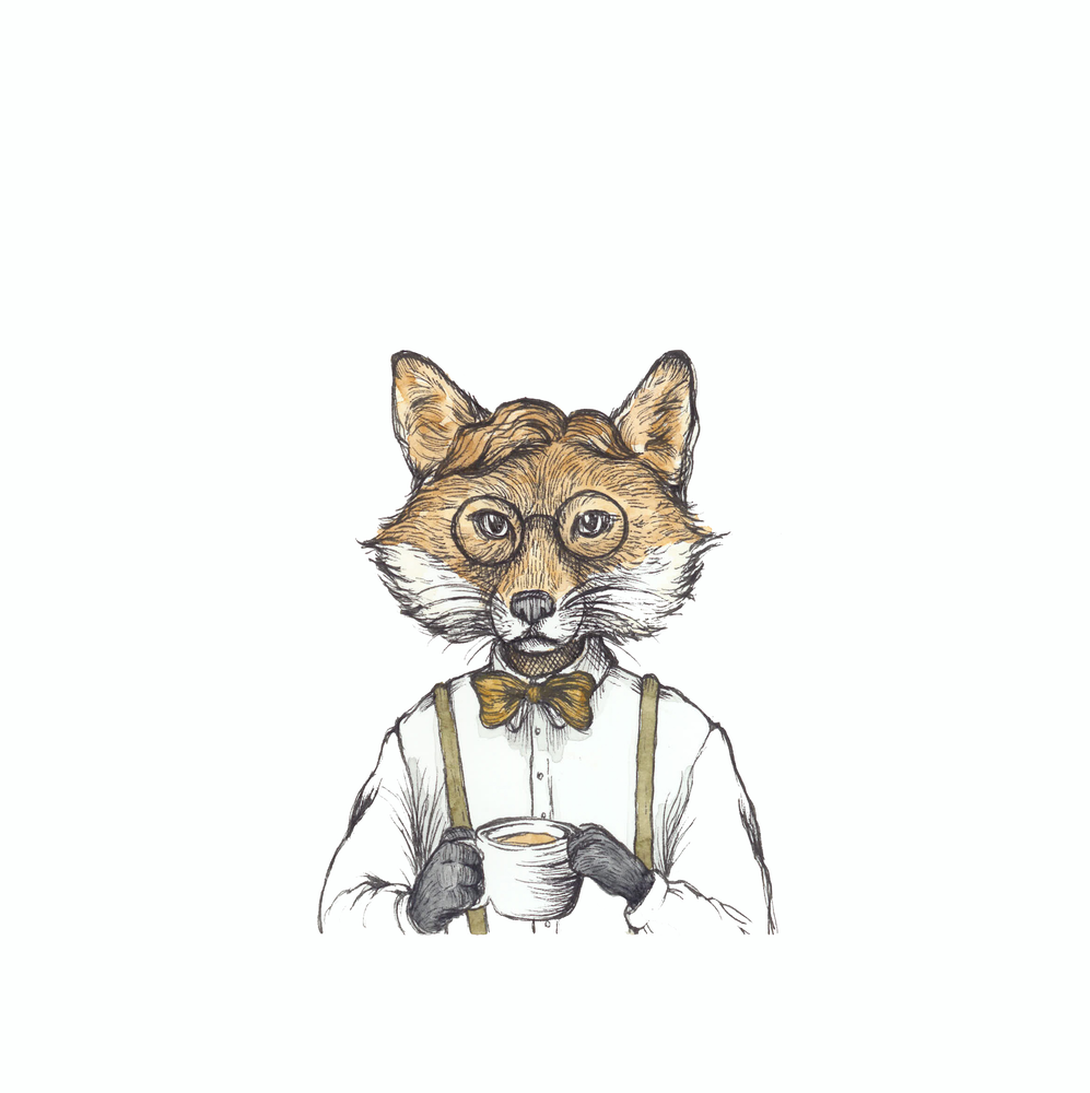 "Image of Lámina ""Sr. Zorro"" - Print ""Mr. Fox"""