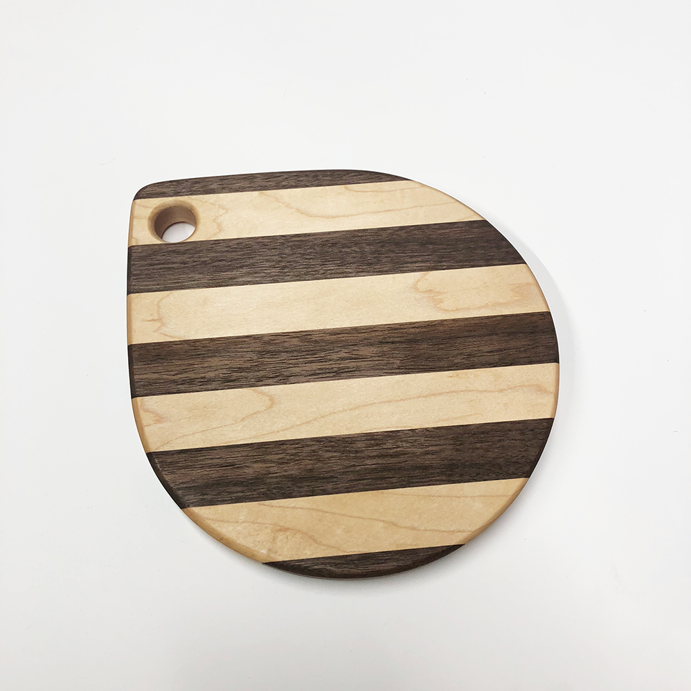 "Image of ""Raindrop"" maple and walnut board"