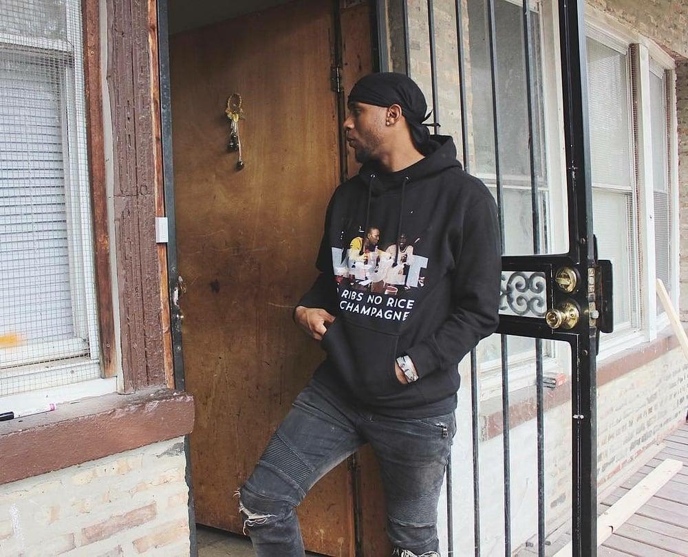 Image of NO RIBS HOODY (BLACK)
