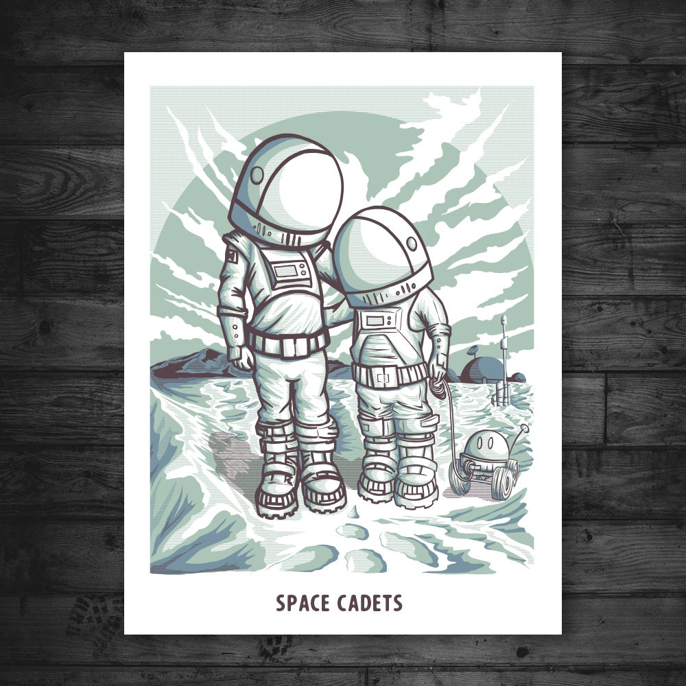"""Image of SPACE CADETS 18"""" X 24"""" PRINT"""