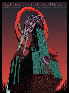 Image of Queens of the Stone Age in Vienna, Austria Poster - Foil Variant