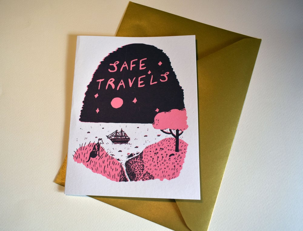 Image of Hand screen printed card