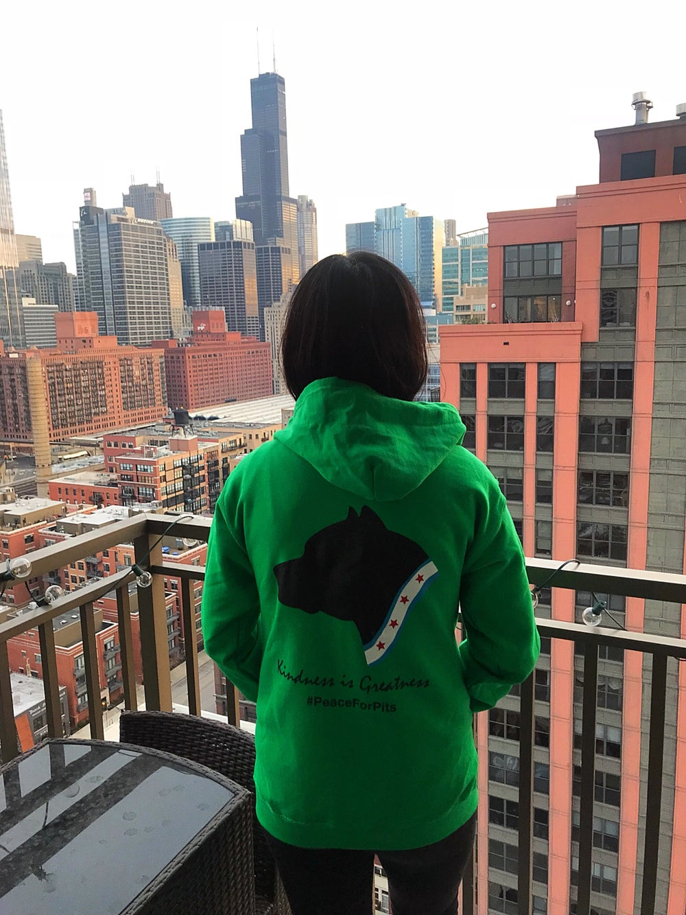 Image of Kindness is greatness Green zip up