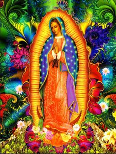 Image of Our Lady of Guadalupe or Aztec Goddess Tonatzin/Invoking Divine Energy