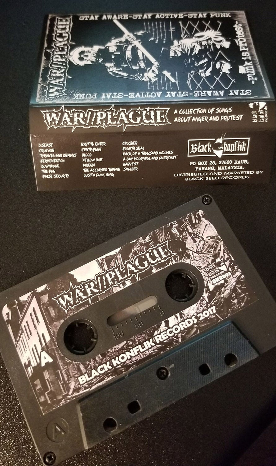 "War//Plague Cassette ""A collection of songs about anger and protest"""