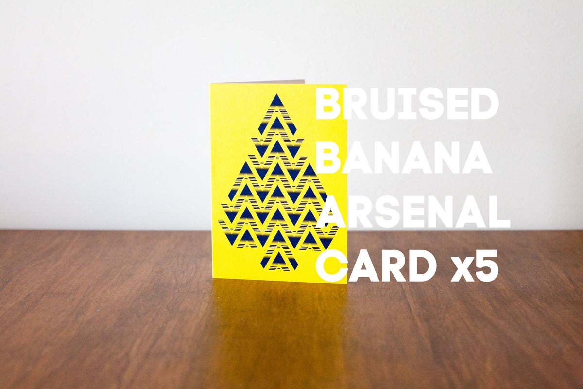 Image of Bruised Banana Arsenal Christmas Card (5 Pack)