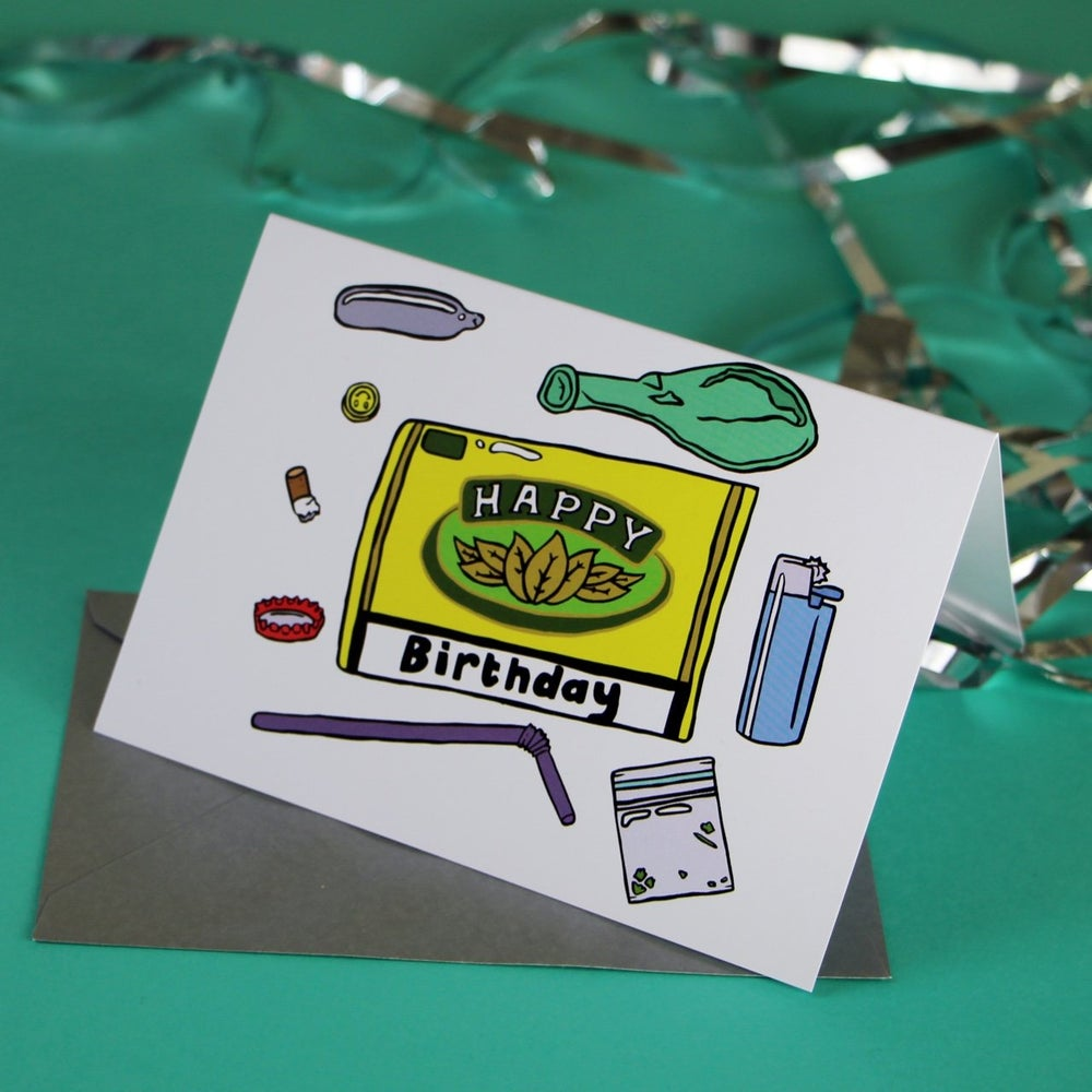 Image of Afterparty Birthday Card