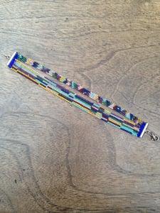Image of Bracelet tissé Miyuki numéro 4-Bracelet loom Miyuki 4 wristband