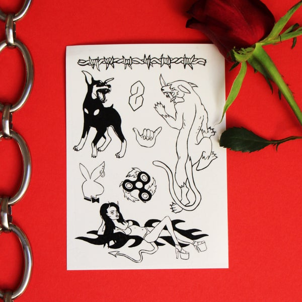 Image of Y2K Badass Temporary Tattoos