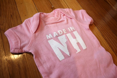 Image of Made in NH Onesie- Pink