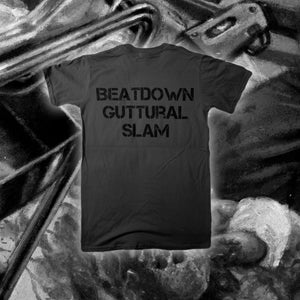"Image of ""Beatdown Guttural Slam"" Grey T-shirt"