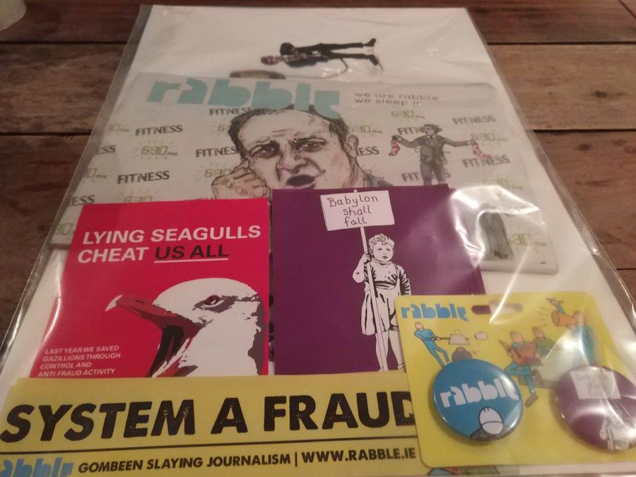 Image of #rabble14 Goody Bag with Gombeen Ort Print