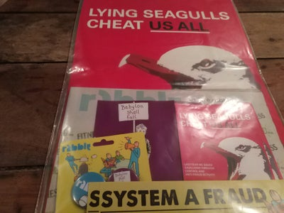 Image of #rabble14 Goody Bag with Lying Seagull Ort Print