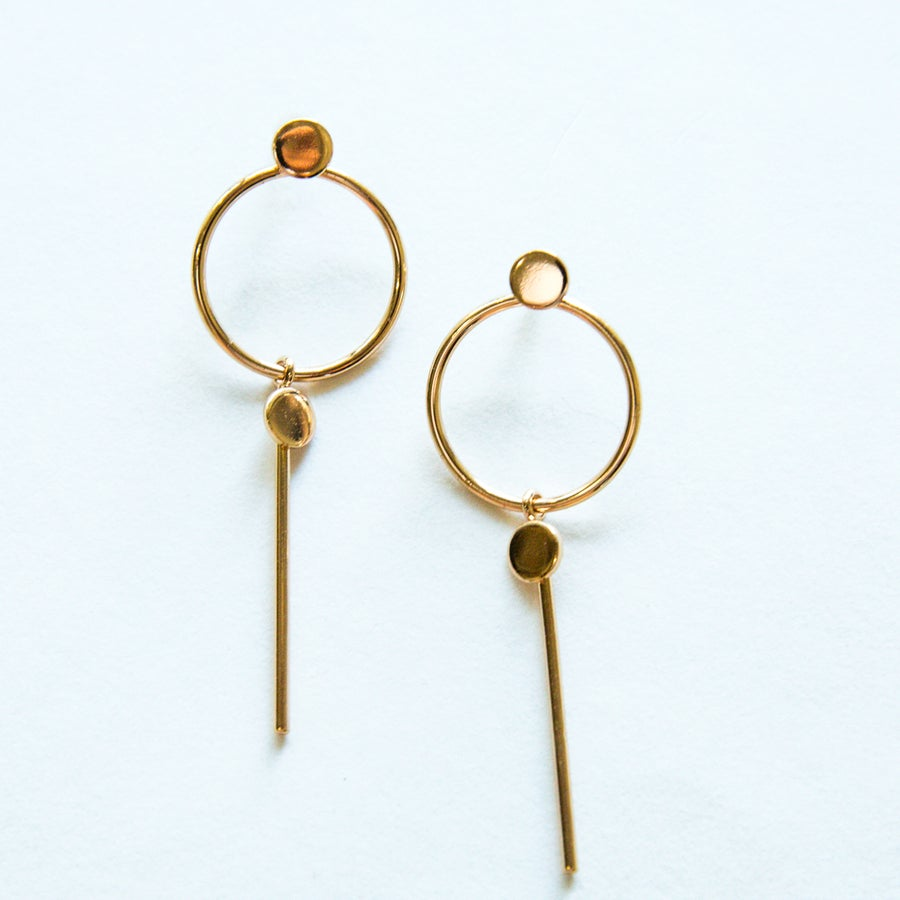 Image of The Gold Champagne Earring