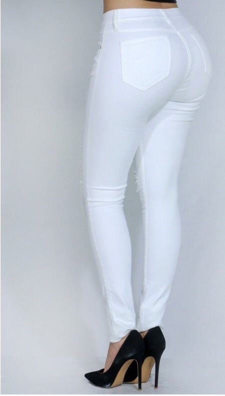 Image of Slasher Jeans White
