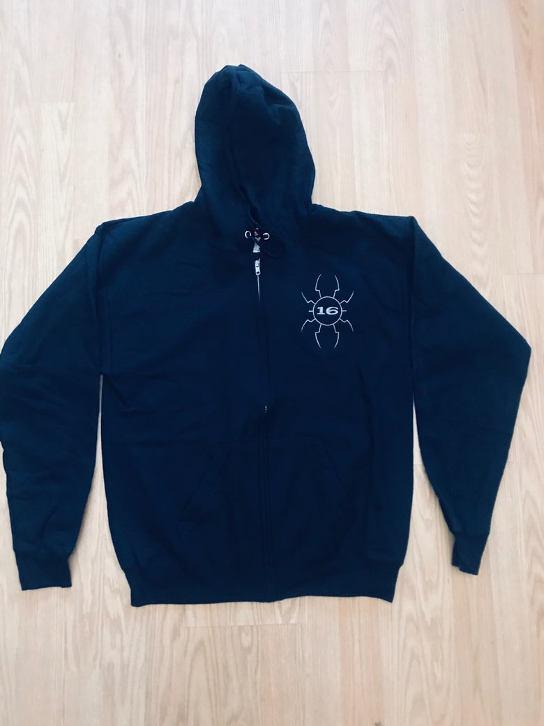 Image of -(16)- Spider Embroidered ZIP UP