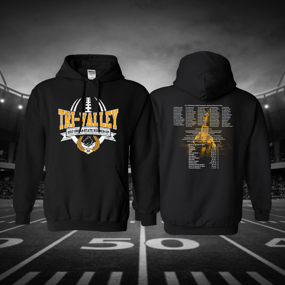 Image of Tri-Valley 2017 OHSAA State Runner-Up Hooded Sweatshirt
