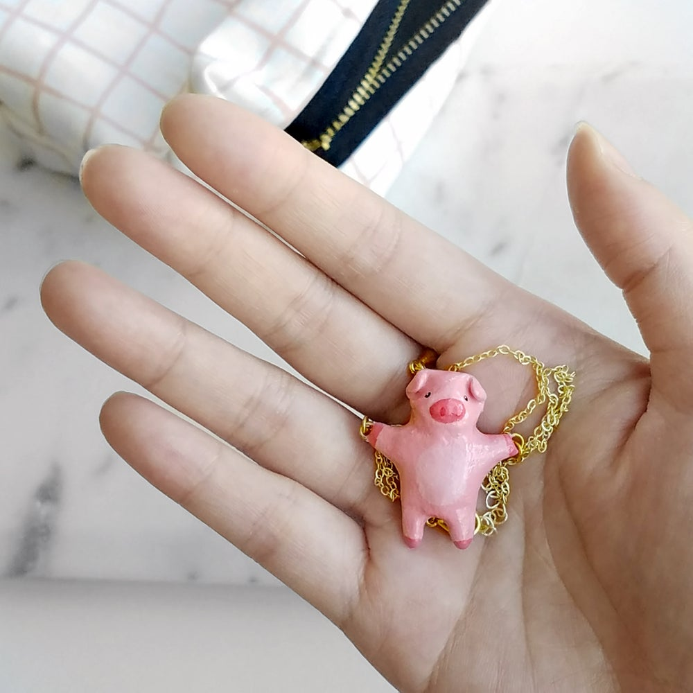 Image of Liten Kanin Piggy Necklace