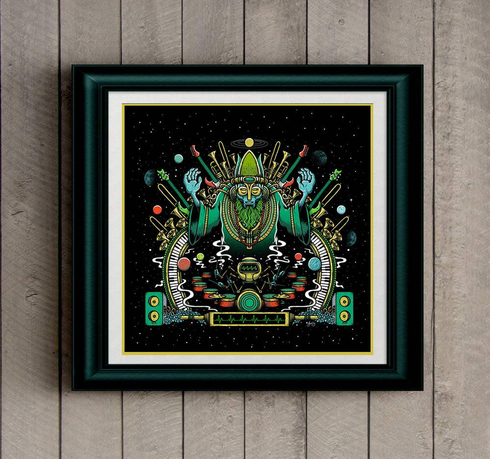 "Image of ""Cosmic Maestro"" art print"