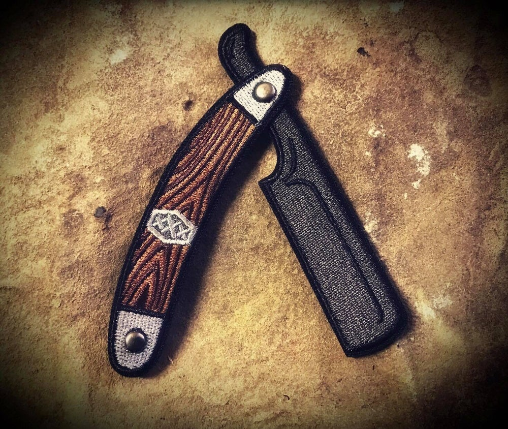 "Image of V.8 Embroidered Straight Razor  "" xXx """