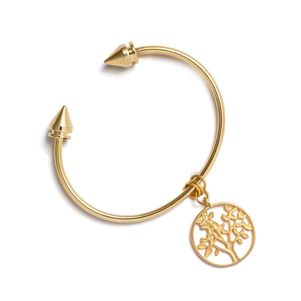 Image of TREE-OF-LIFE SPIKE BANGLE BRACELET