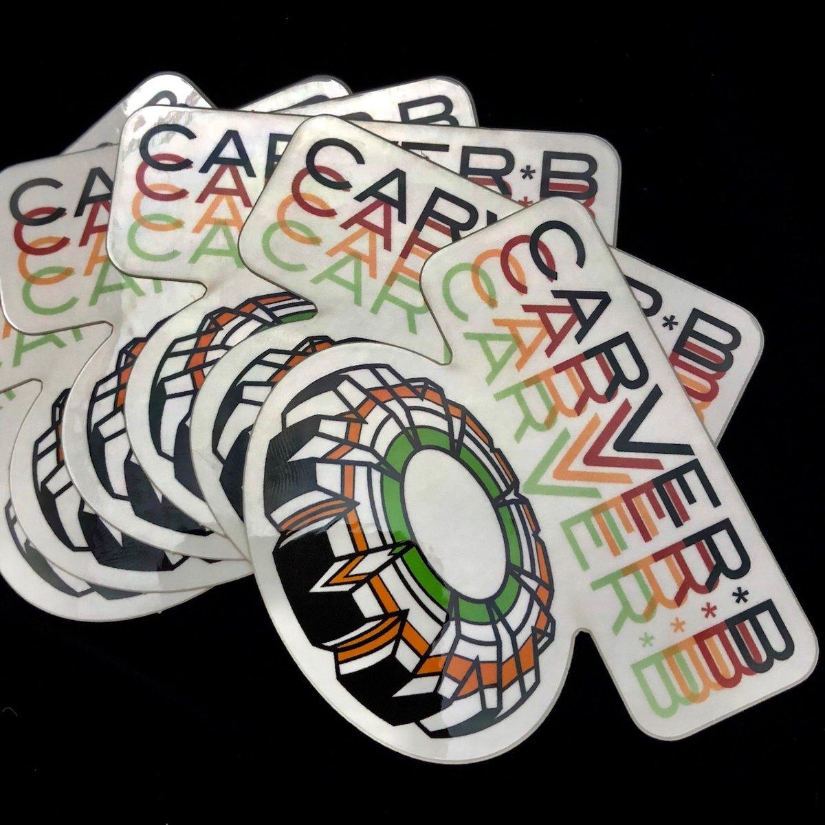 Image of Carver B Sticker/Slap
