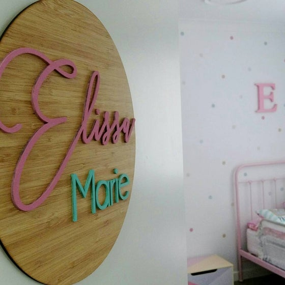 Image of Bamboo name plaque - girls