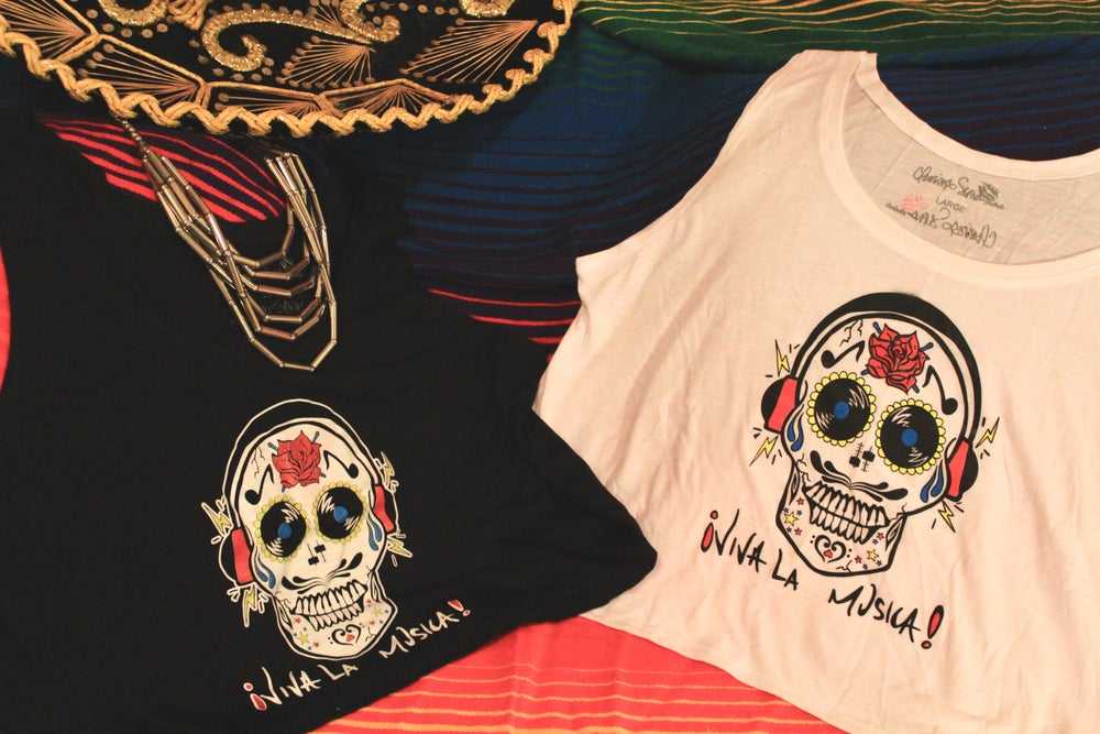 Image of ¡Viva La Musica! Women's Crop Tank