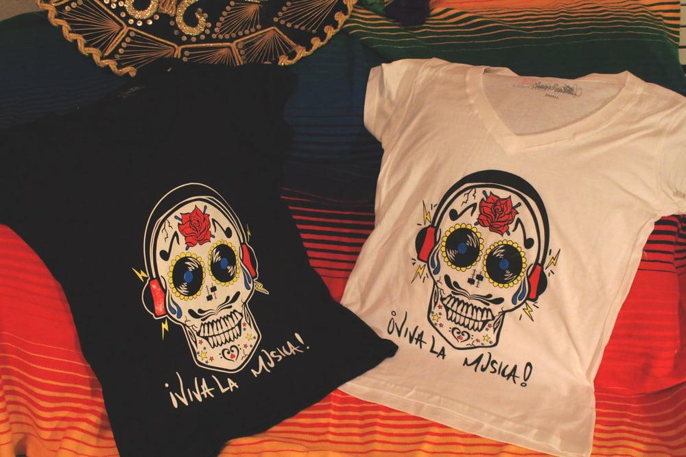 Image of ¡Viva La Musica! Women's V neck Tee