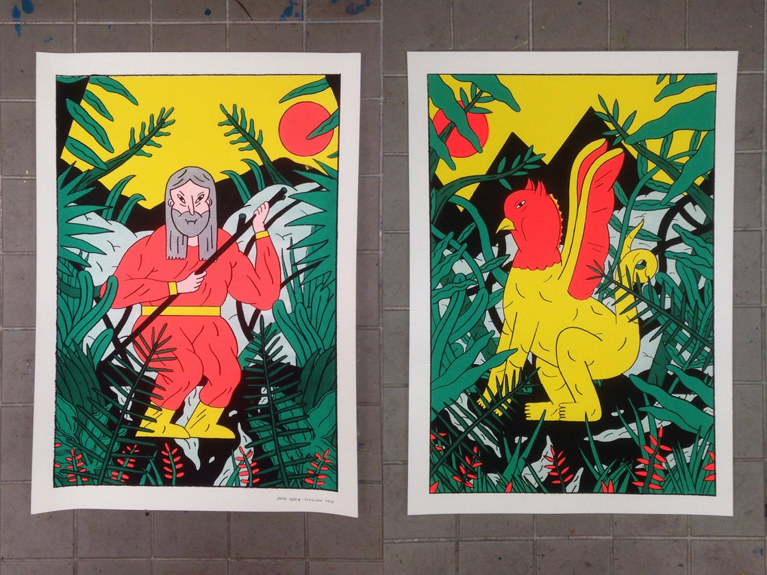 Image of Sunrise / Sunset (4 color Screenprints - Edition of 20)