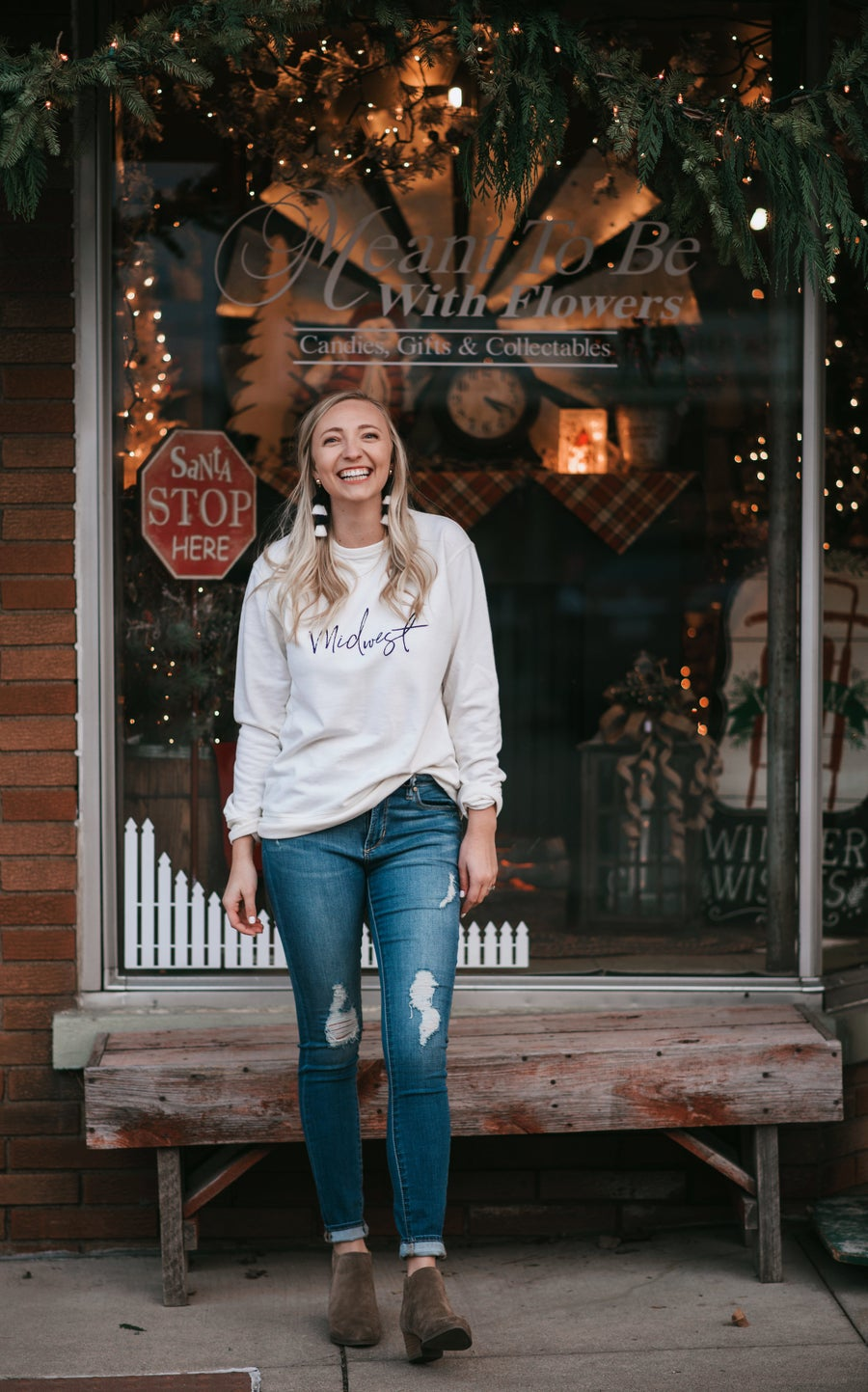 Image of Cream MIDWEST Crew-neck sweater