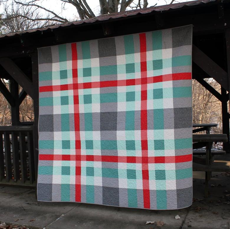 "Image of Tartan Quilt Pattern - 81"" x 81"""