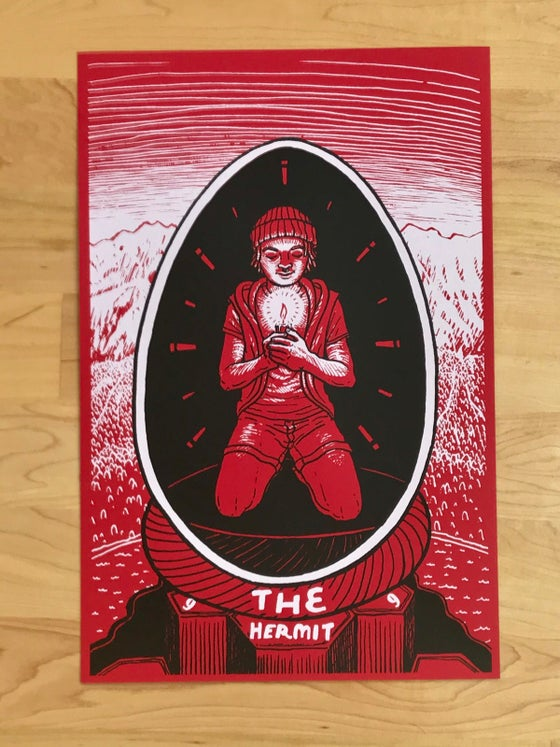 Image of The Hermit Hand Pulled Screen Print