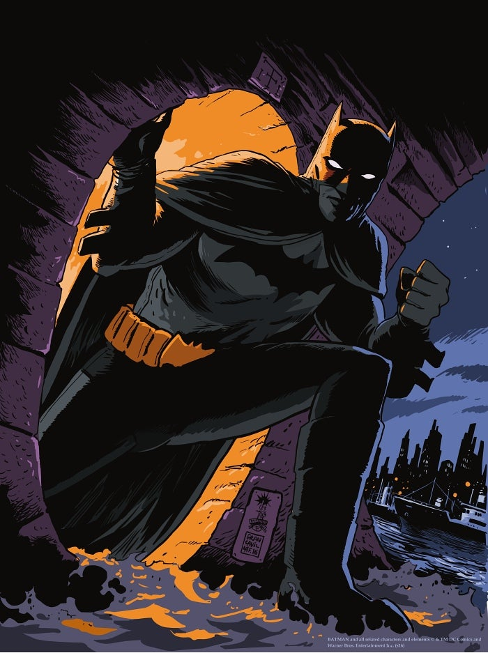 Image of Batman Detective Comics Mondo Screen Print APs