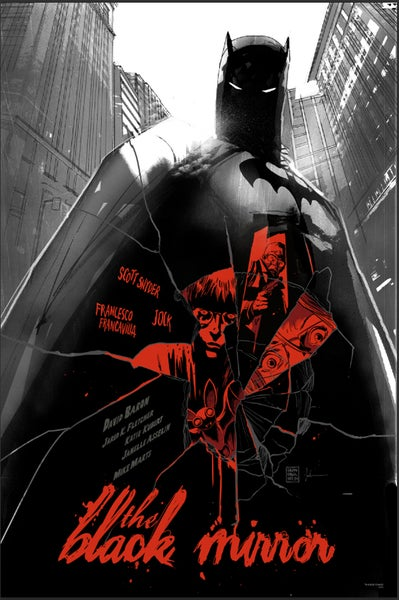 Image of Batman Black Mirror Mondo Screen Print APs 24x36