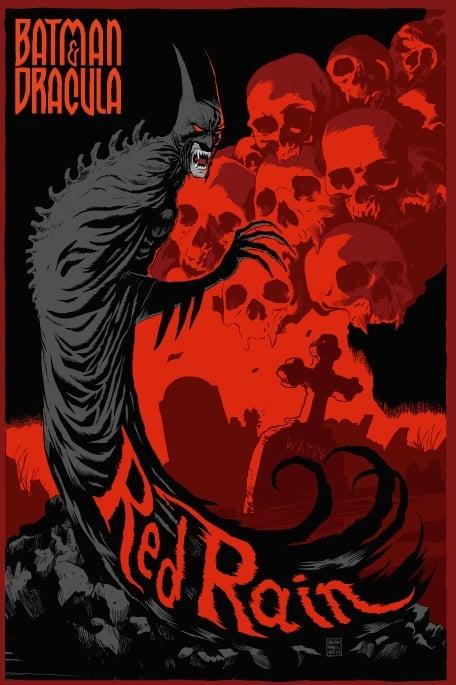 Image of Batman Red Rain Mondo Screen Print APs 24x36