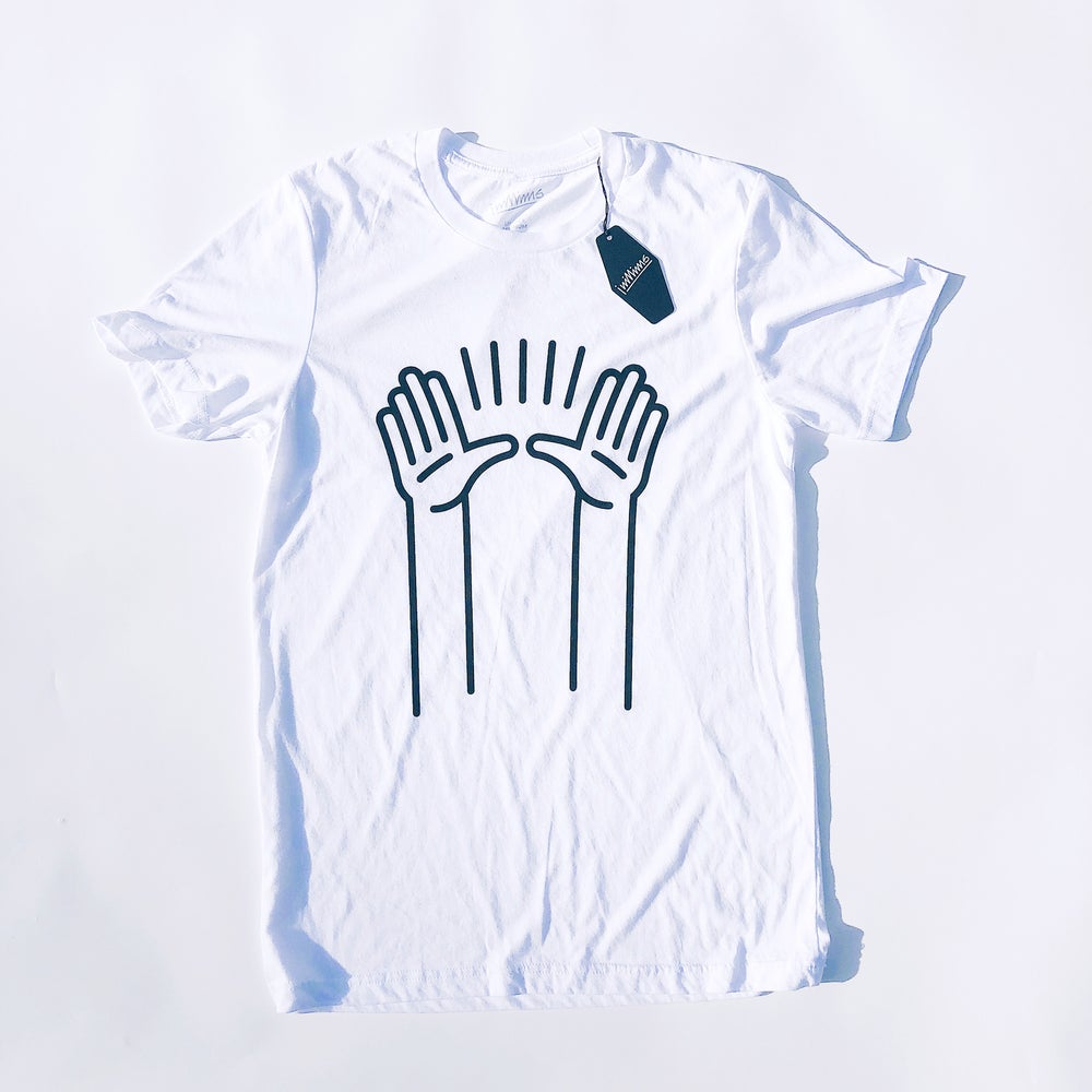 Image of PRAISE HANDS | White Tri-blend