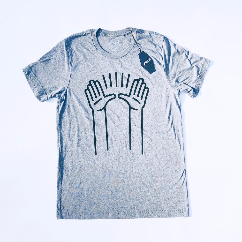Image of PRAISE HANDS | Gray Tri-blend