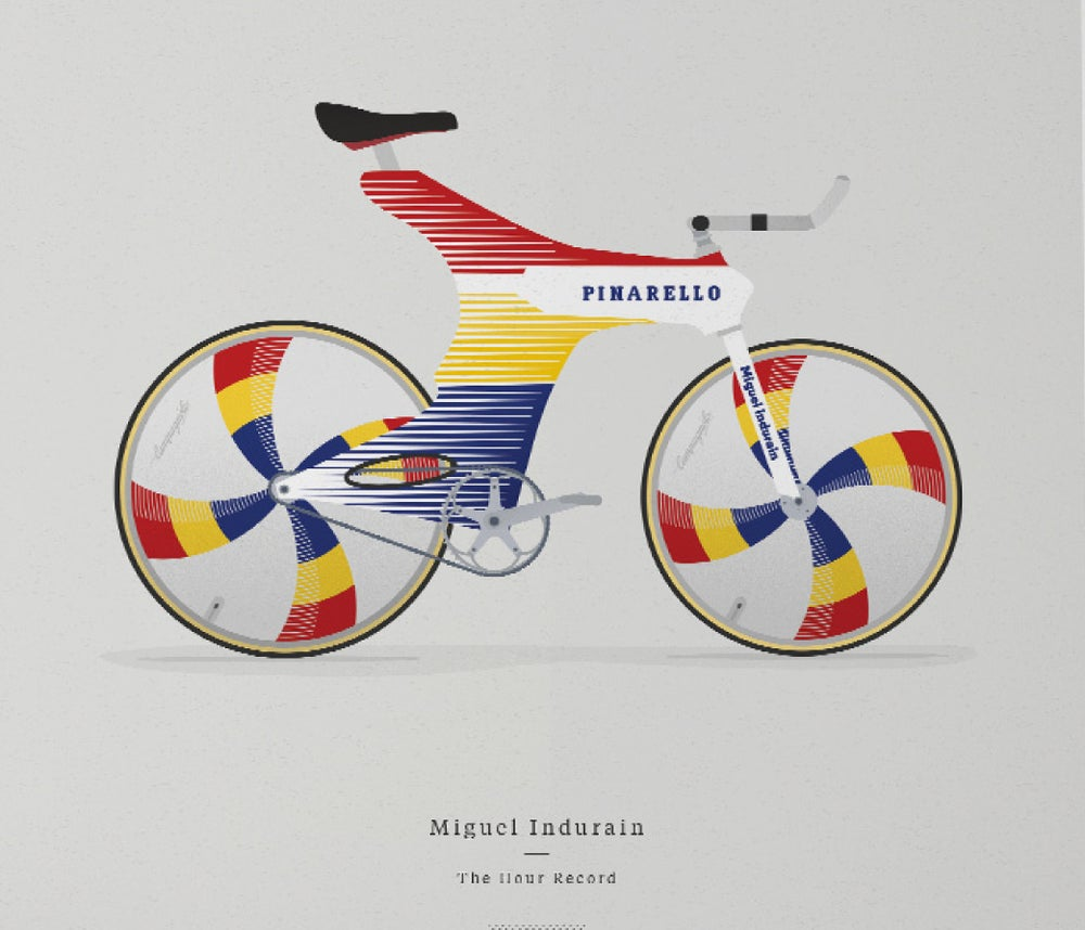 Image of Indurain's TT bike A3 print LIMITED EDITION - by Parallax